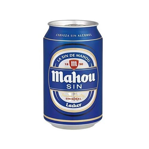CERVEZA MAHOU SIN ALCOHOL LATA 33 CL PACK 24 UNIDADES
