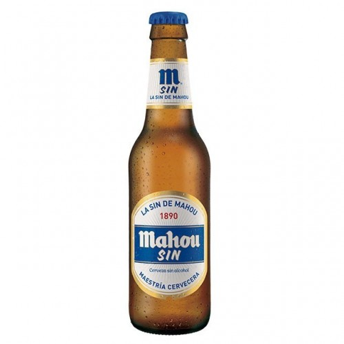 CERVEZA MAHOU SIN ALCOHOL BOTELLA 25 CL  PACK 24 UNIDADES